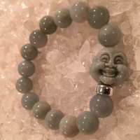 Bracelet with Imperial Jade Buddha Head